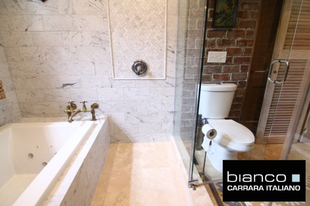 Carrara Bianco Bathroom