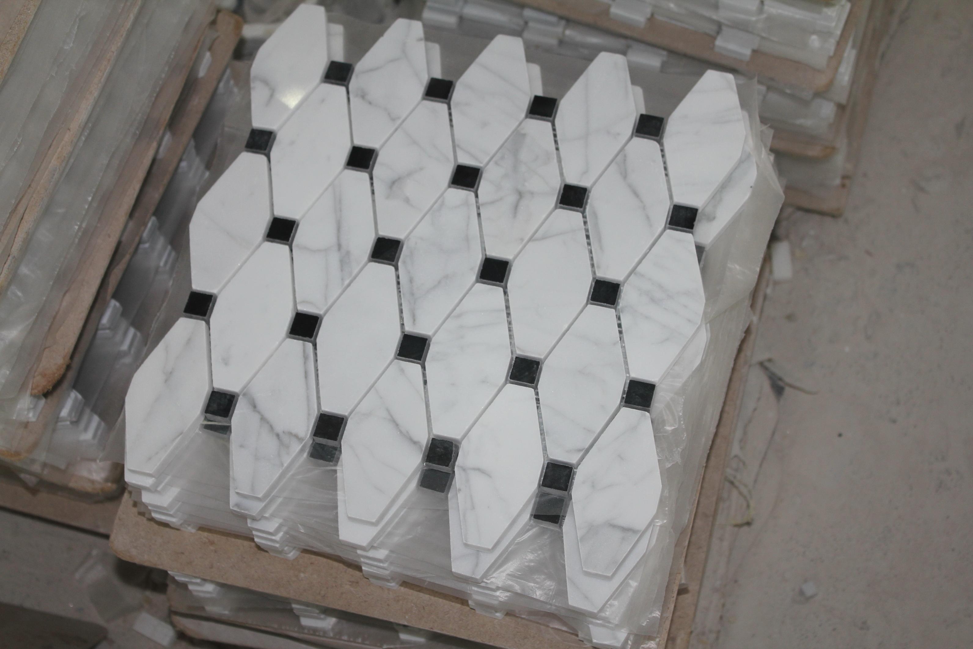 Carrara Bianco Long Octagon Mosaic The Builder Depot Blog