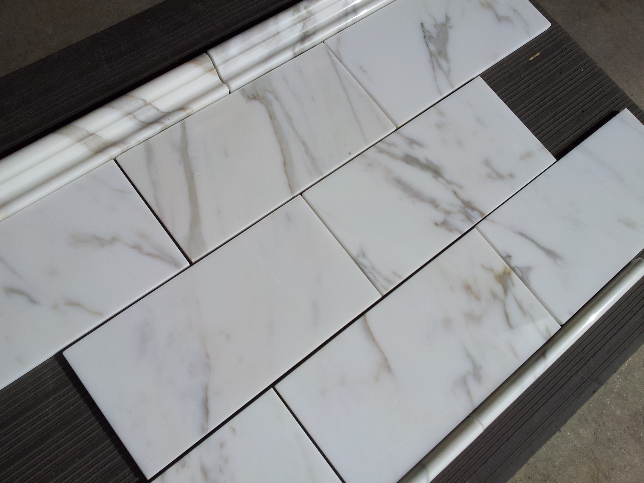 14 95sf Calacatta Gold Italian Marble 6 215 12 Subway Tile