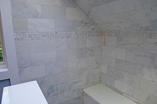Carrara Venato 6×12″ Honed Subway Tile (Consistent is background ...