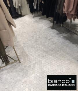 Bianco Carrara 2%22 Hexagon Retail