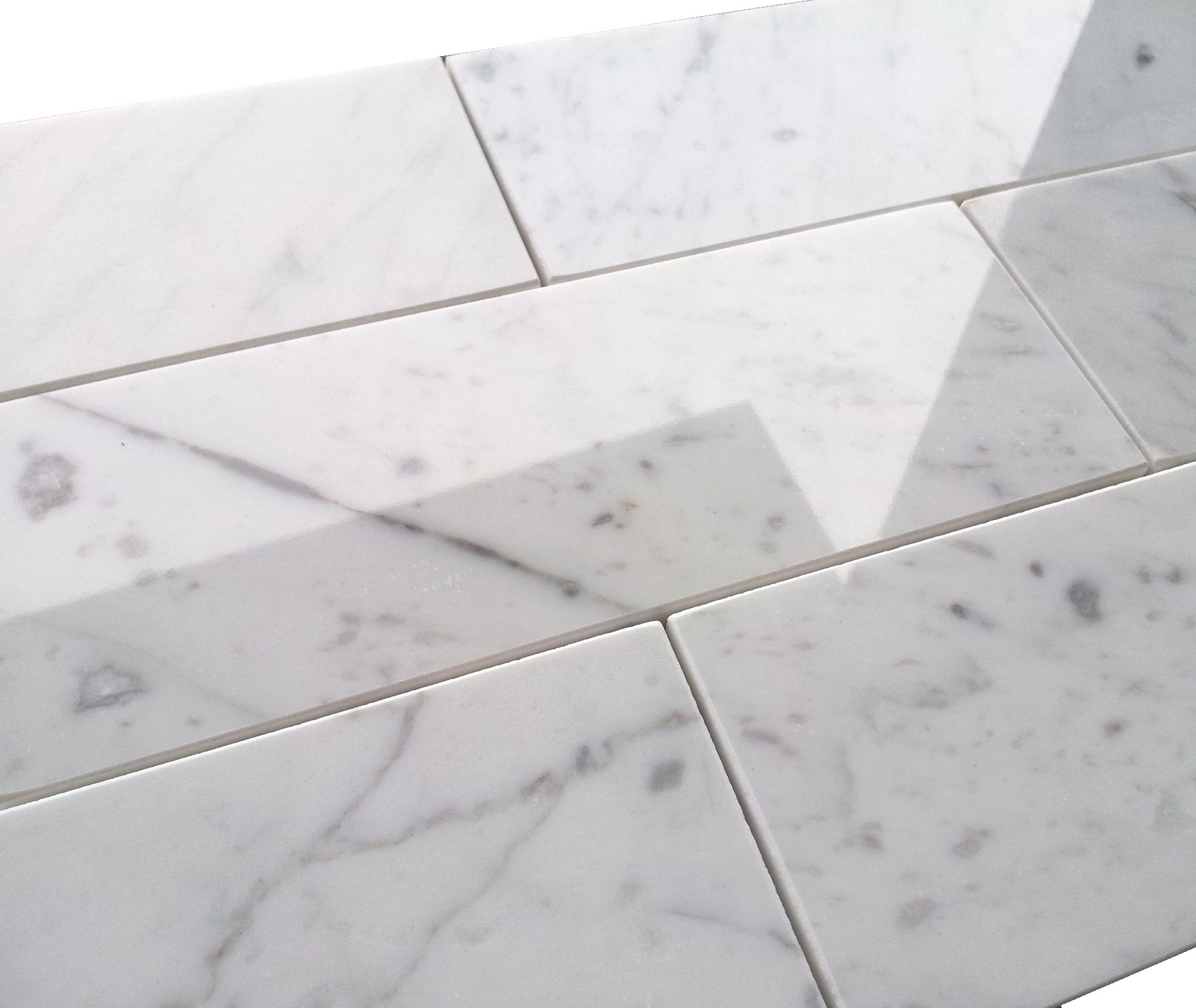 Premium Italian 3×8″ Carrara Marble Tile Polished | the builder ...
