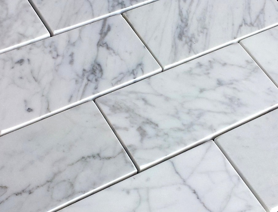Great 12 Inch Floor Tiles Thin 1200 X 600 Floor Tiles Round 12X12 Ceiling Tiles Home Depot 16 X 24 Tile Floor Patterns Youthful 18X18 Ceramic Tile White1X1 Floor Tile Carrara Bianco 3×6\u2033 Italian Marble Subway Tile | The Builder Depot ..