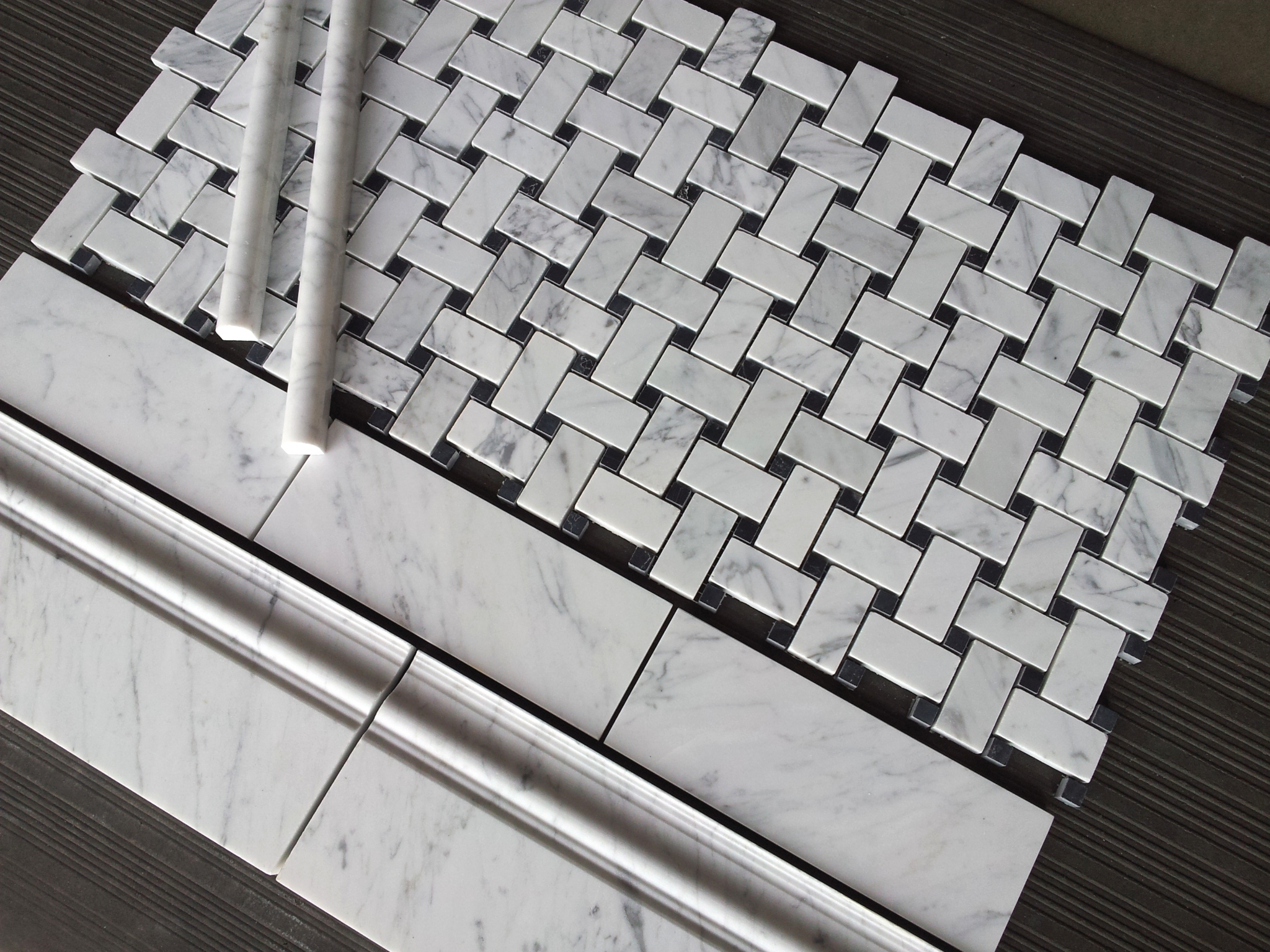 Basketweave Marble Tile The Builder Depot Blog