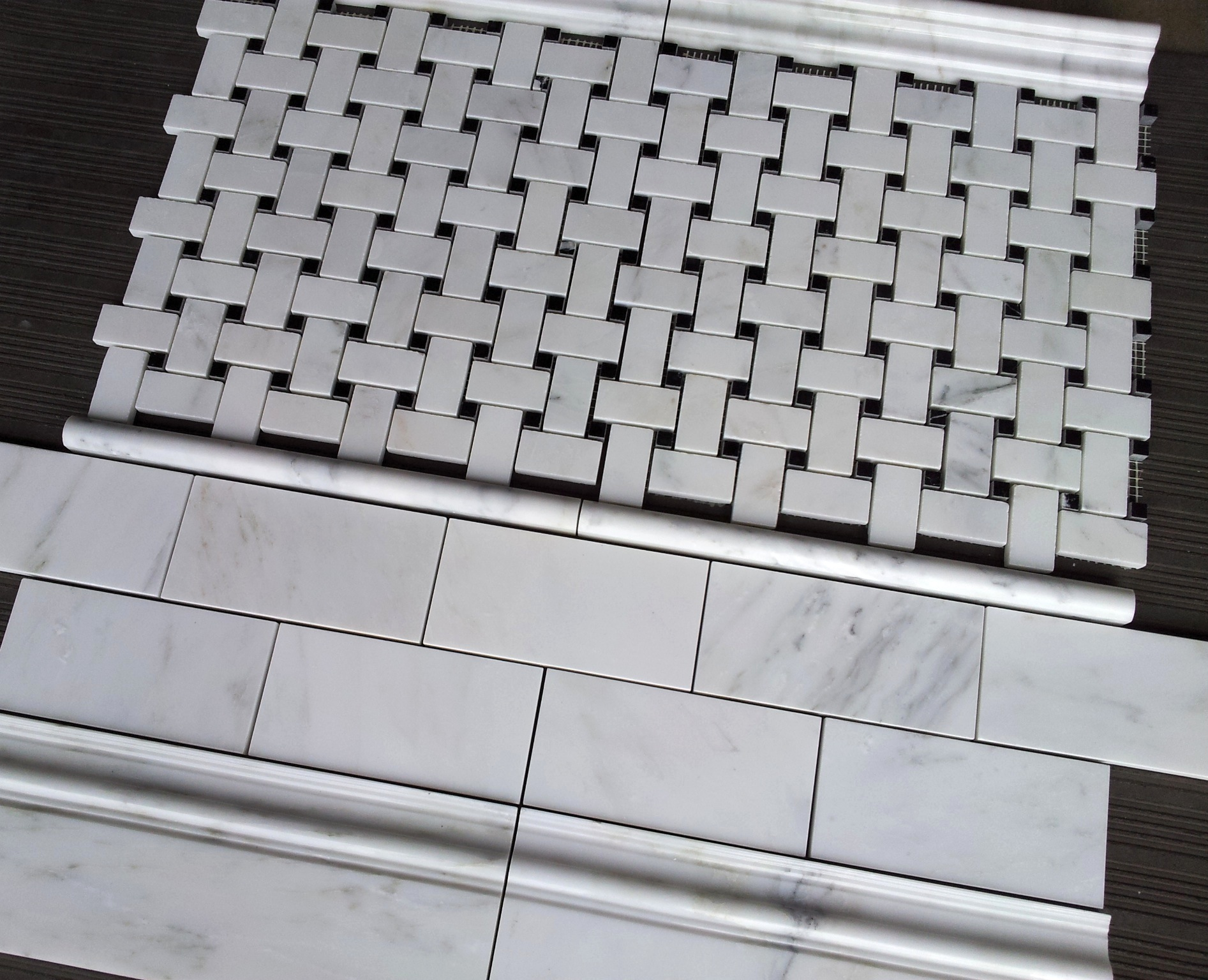Carrara 3x6 and Basketweave