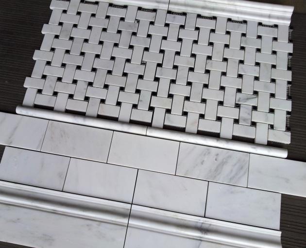 Carrara 3x6 and Basketweave