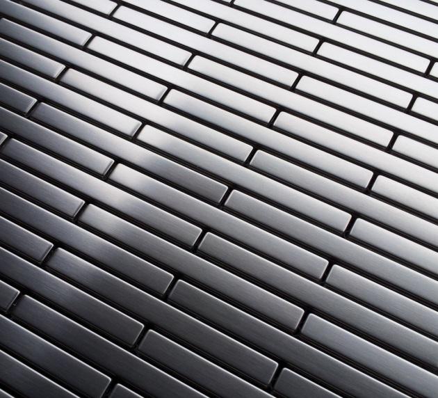 Stainless Steel Edger Thin Brick Metal Mosaic Tile