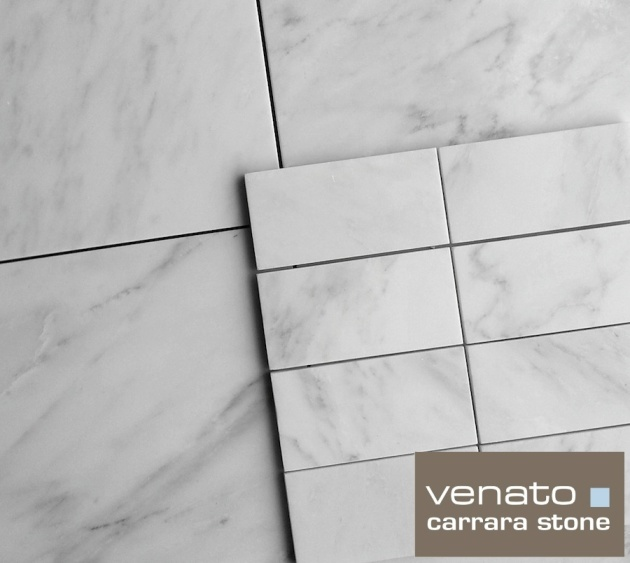 "Carrara Venato 12x12"" and 3x6"" Honed"