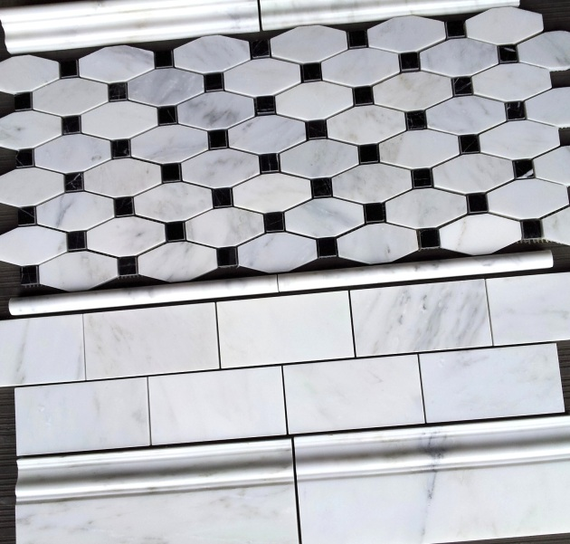 Carrara Venato 3x6 Polished and Long Octagon Polished