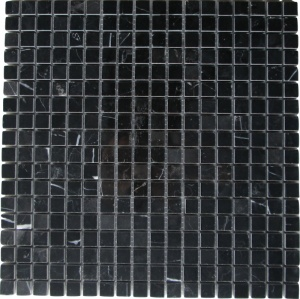 "Black Marble Nero Marquina 5/8"" mosaic"