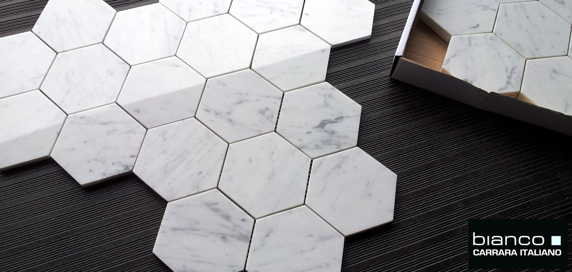 Carrara bianco 5 hexagon marble mosaic tile the builder depot blog 5x522 hexagon angle dailygadgetfo Image collections