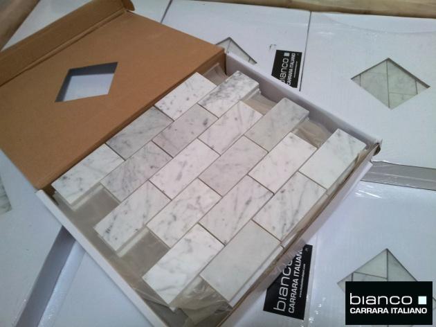 "Carrara Bianco 2x4"""