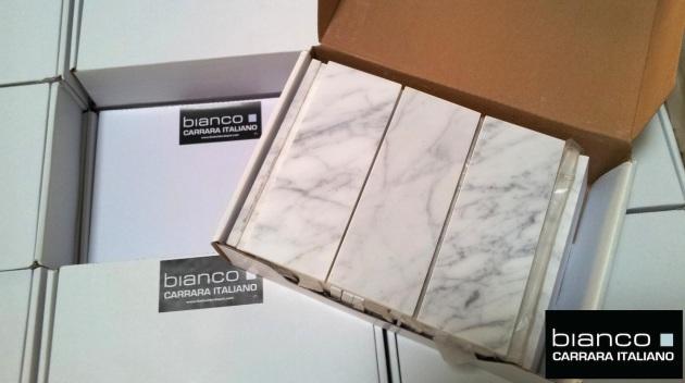 "Carrara Bianco 3x8"" Subway Tile"