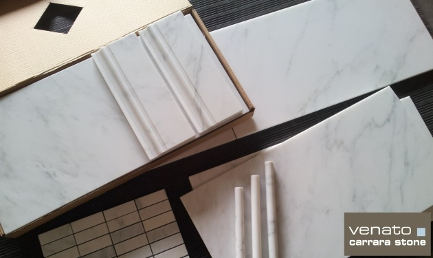 "Carrara Venato 12x24"" and Venato Collection Products"