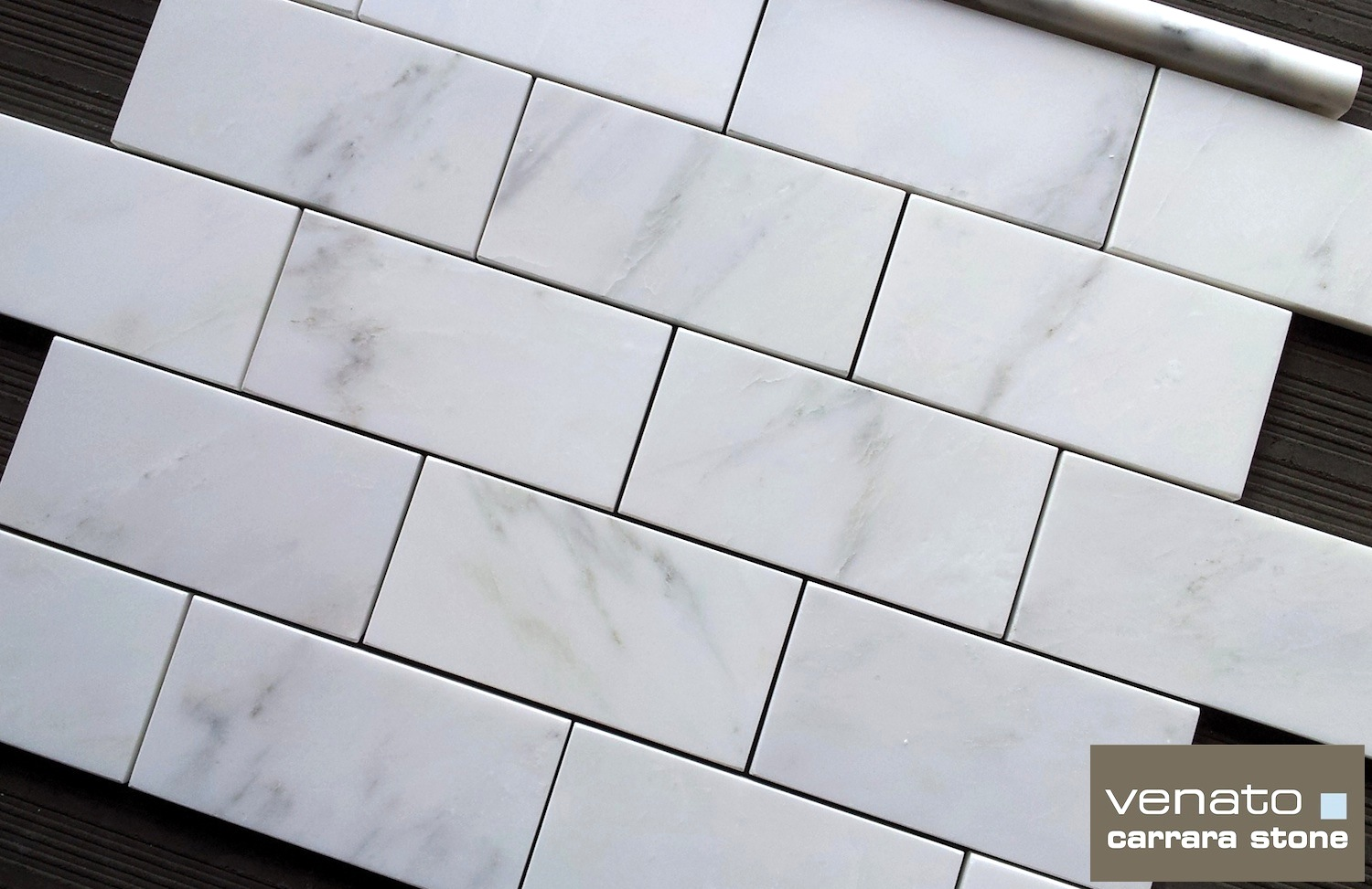 Carrara venato 36 subway tile honed only 7sf the builder venato 3x6 dailygadgetfo Choice Image