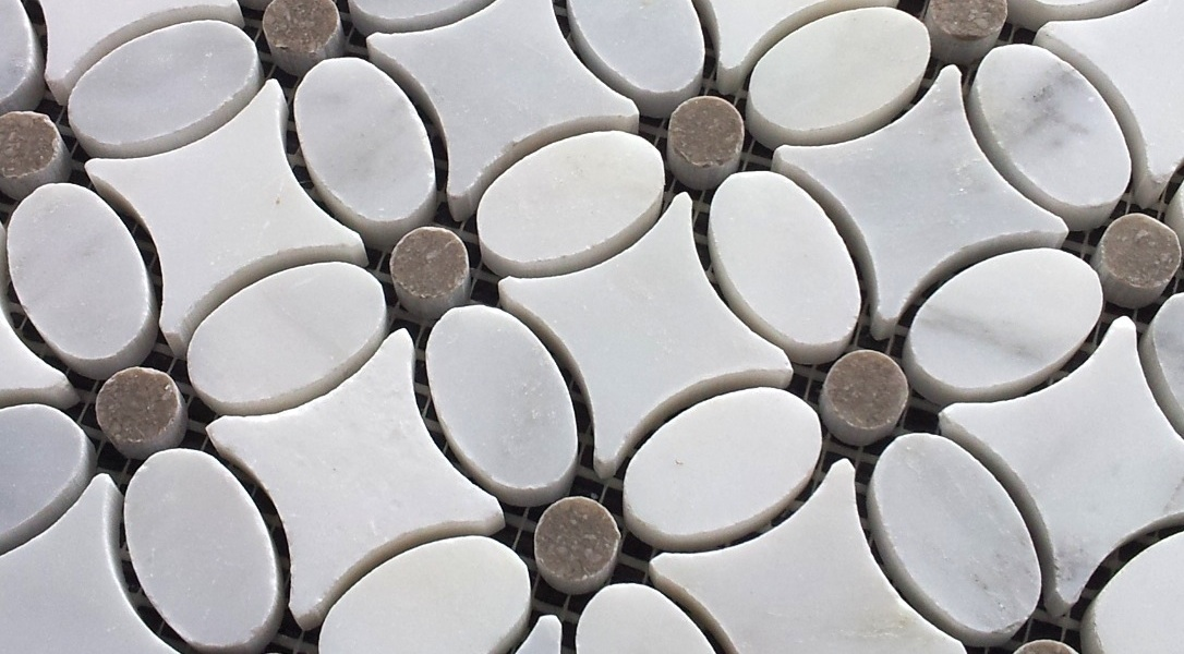 Carrara flower mosaics new products for 2014 the builder depot