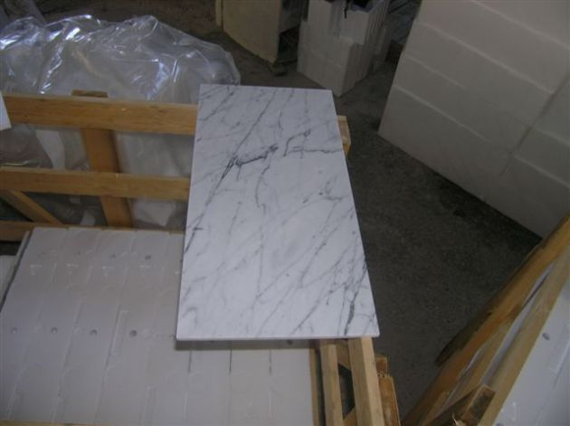 "Carrara Bianco 12x24"" Marble Tile Honed"