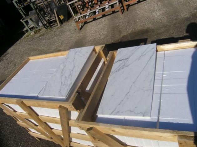 "Carrara Bianco 12x24"" Marble Tile"