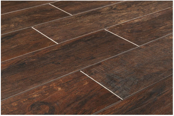 Redwood Mahogany Angle - Wood Look Tile The Builder Depot Blog