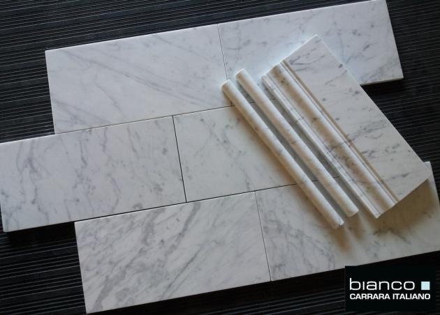 Carrara Bianco 6x12 Marble Tiles