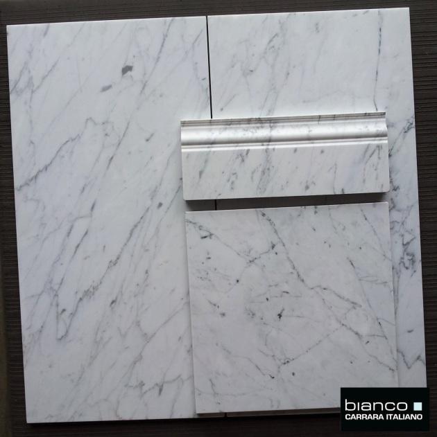 "Bianco Carrara 12x24"" Marble Tile"