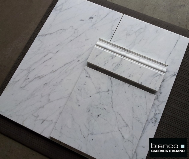 Bianco Carrara 12x12 and 12x24 Honed Marble Tile