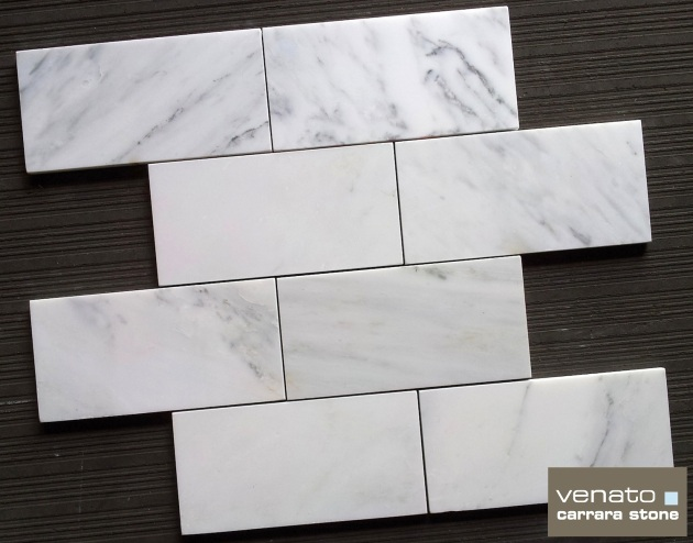 "Carrara Honed 4x8"" Subway Tile"