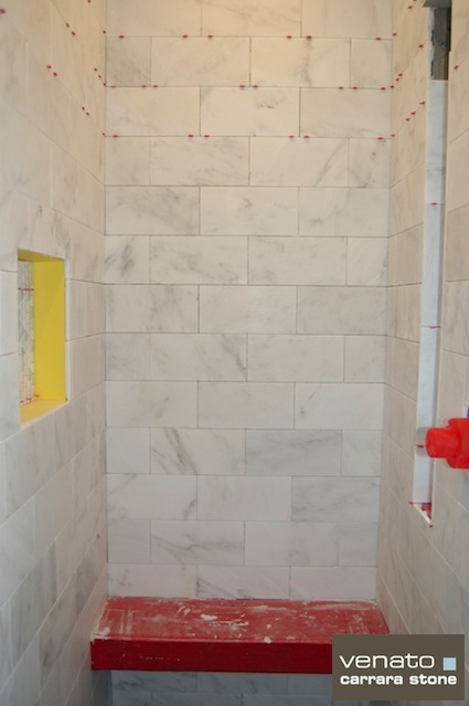 carrera marble bathroom floor tile