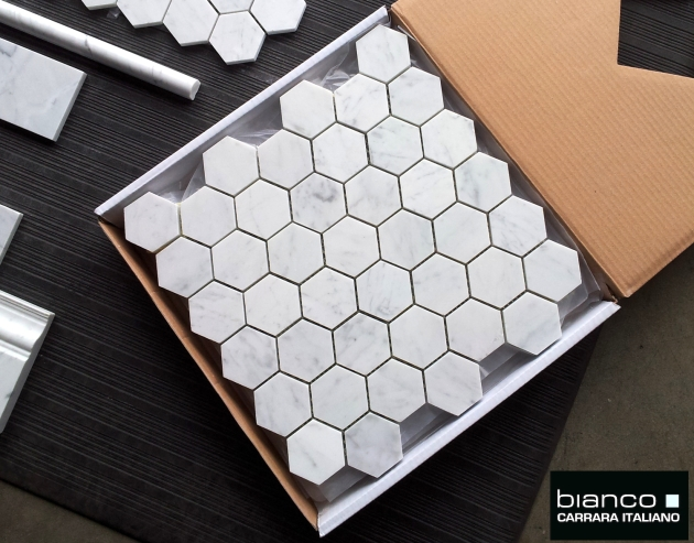 Bianco Carrara Honed Hexagon