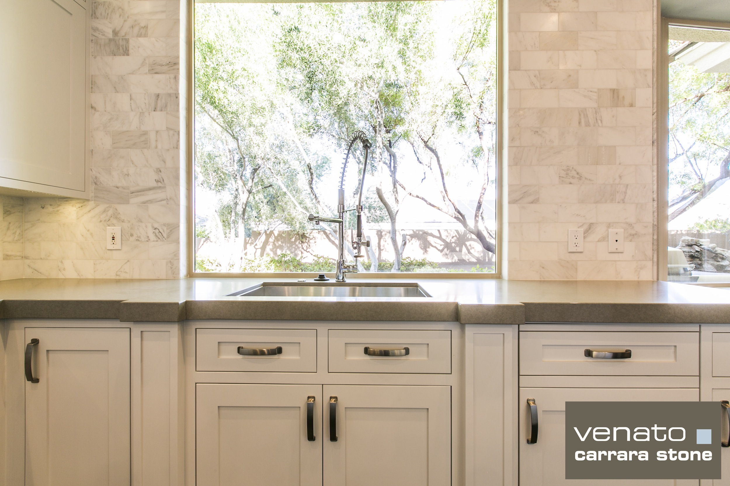 Carrara Venato Kitchen Backsplash The Builder Depot Blog - Carrara porcelain tile 3x6