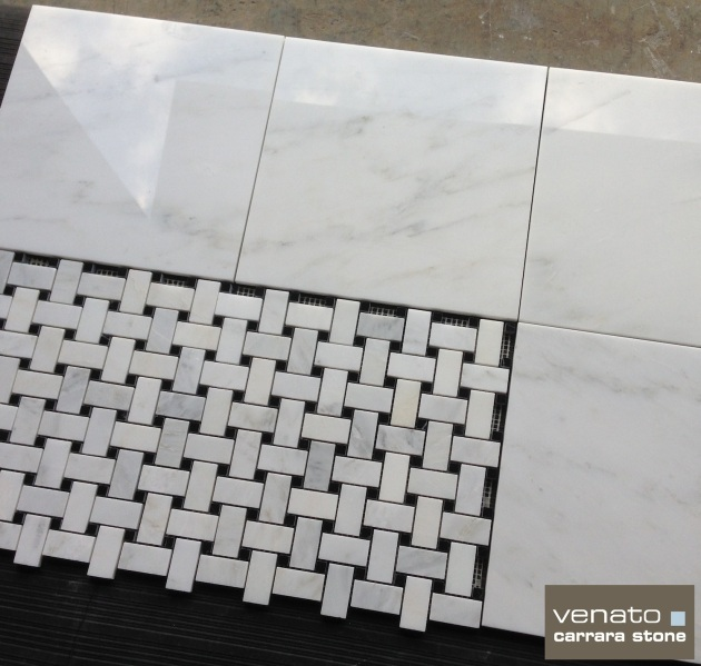 Venato 12x12 Polished and Basketweave Mosaic