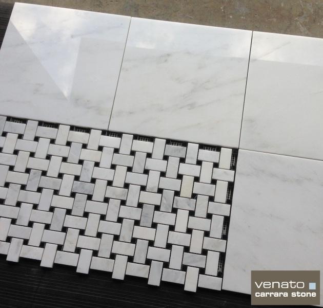 Venato 12x12 Polished and Basketweave Mosaic