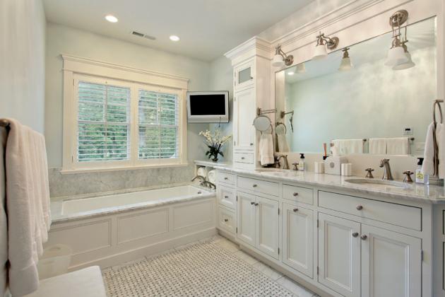 Basketweave Bathroom