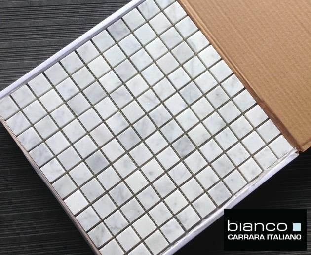 "Italian 1x1"" Square Marble Mosaic Tile"