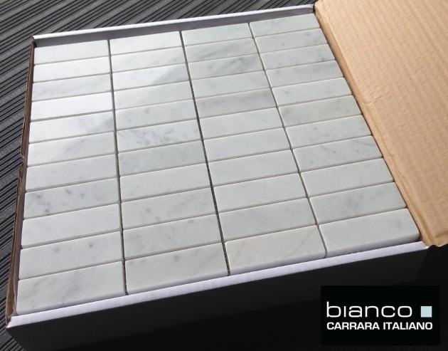 """Carrara Bianco 1x3"""" Angle Polished"""
