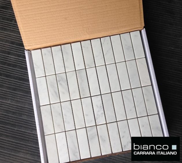 Carrara Bianco Polished Marble Mosaic