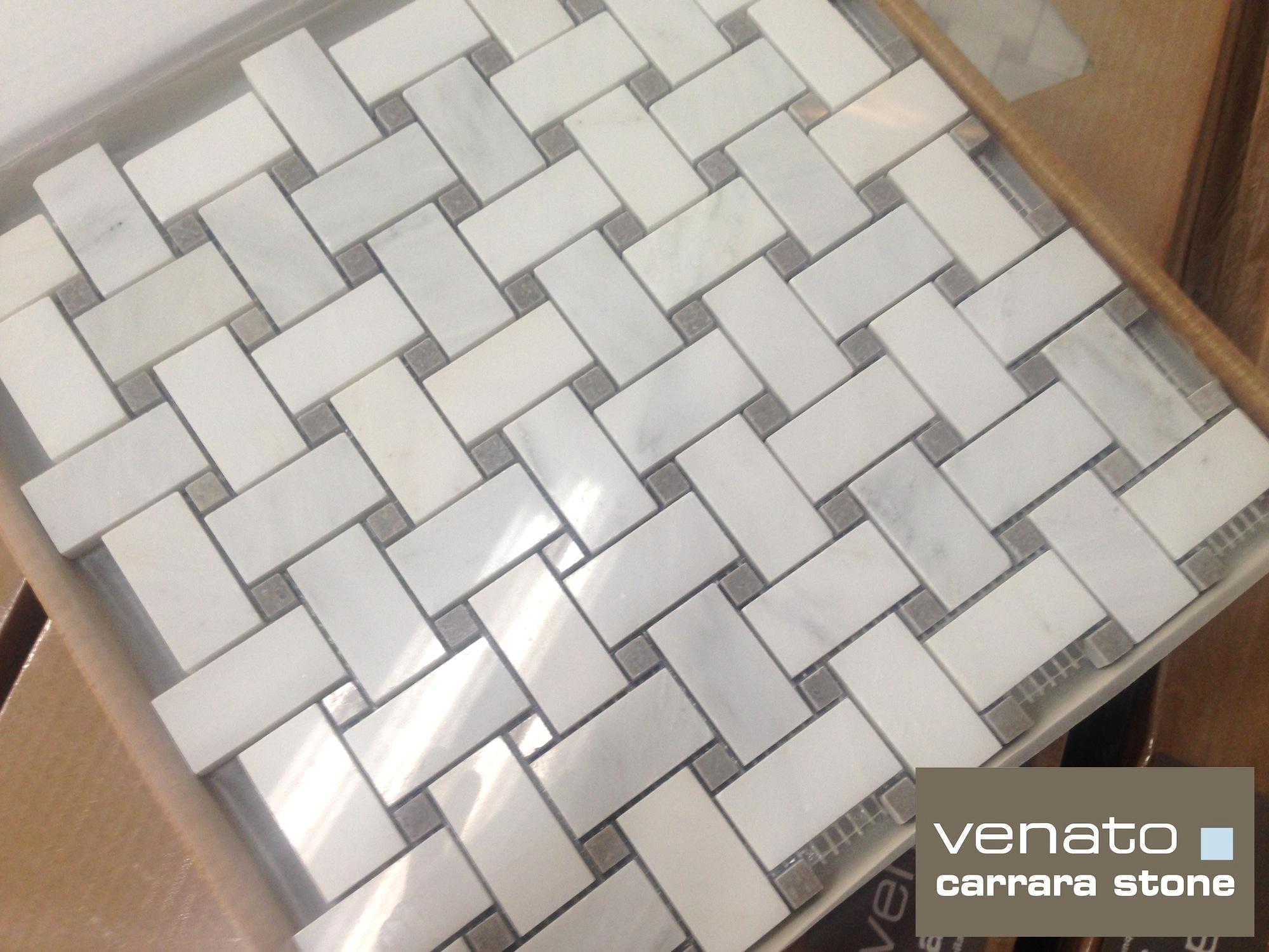 Carrara Venato 1 2 Bursa Beige Basketweave Mosaic Tile The Builder Depot Blog