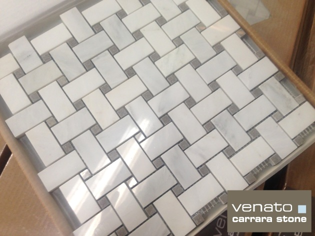 Carrara Venato Gray Dot Basketweave