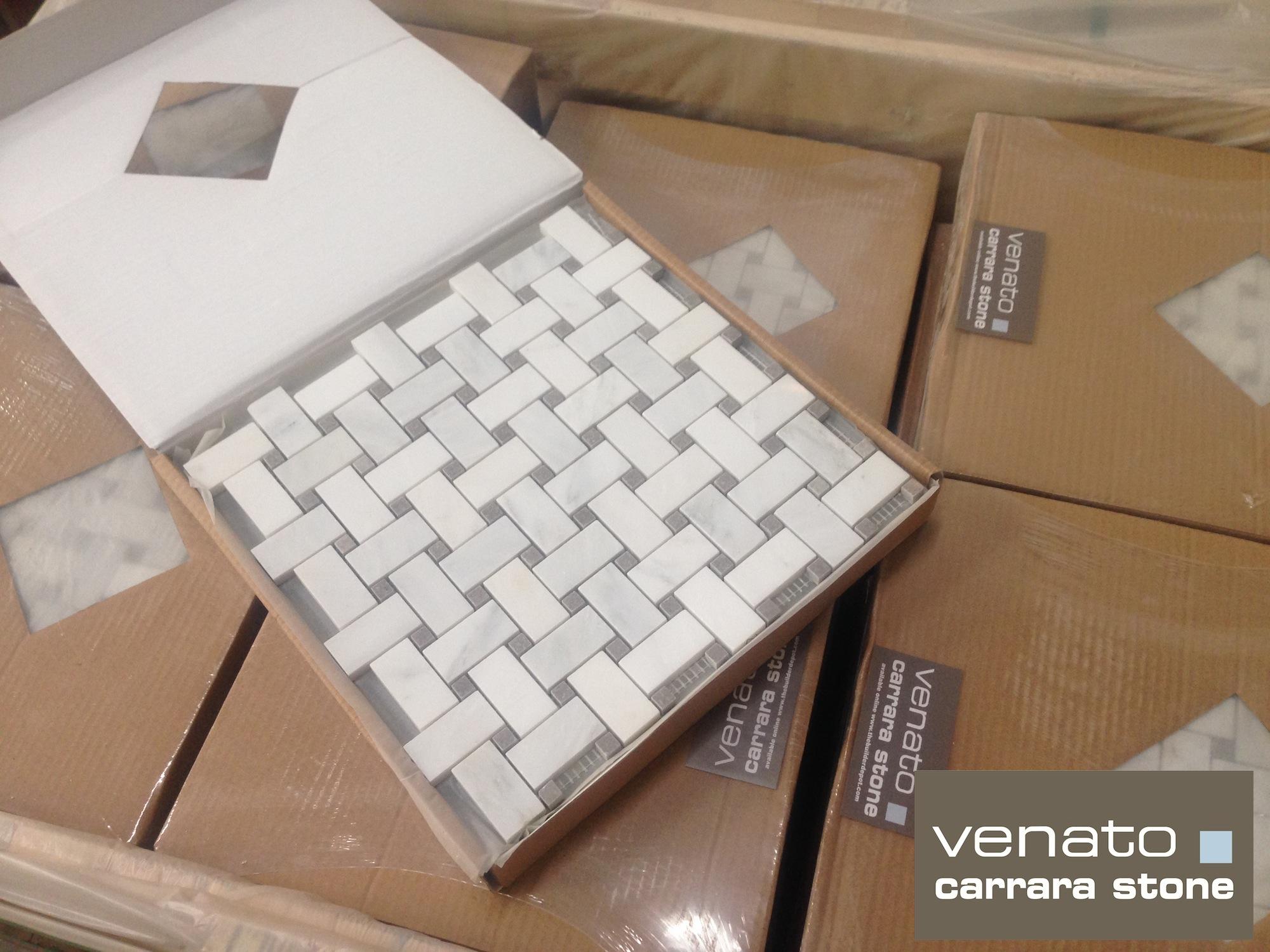 Carrara venato 12 bursa beige basketweave mosaic tile the carrara venato 1x2 dailygadgetfo Images