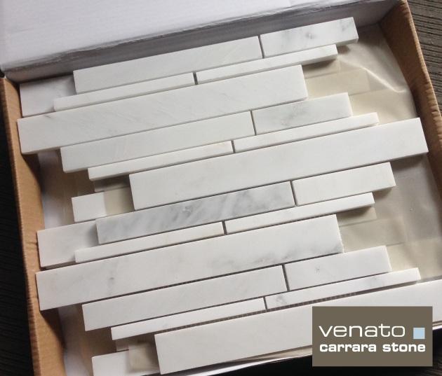 Carrara Venato Random Brick Marble Mosaic Tile