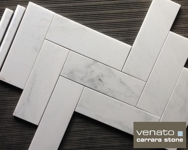 "Carrara Venato 4x12"" Marble Tile"