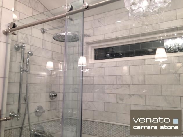 "Carrara Venato 4x12"" Polished Tile"