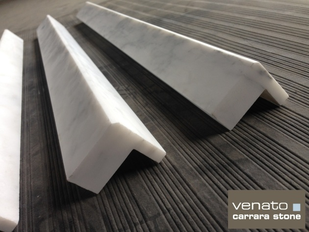 Square Edge Carrara Venato Trim