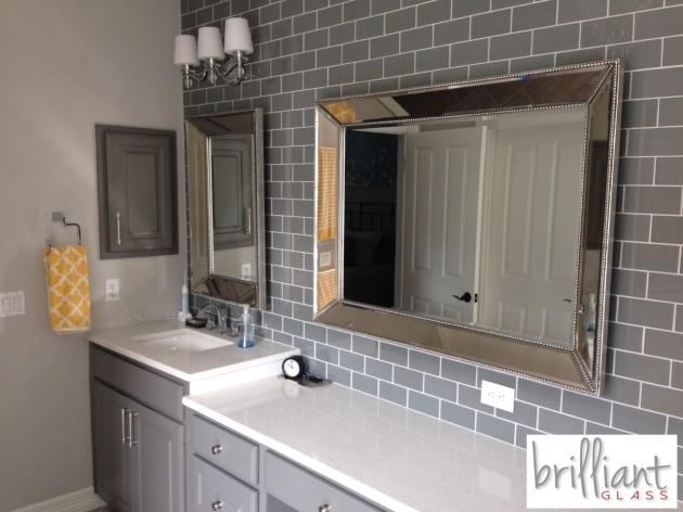 Ocean Gray 3x6 Subway Tile installed bathroom