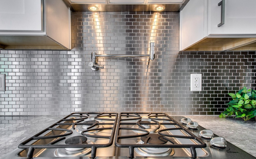 stainless steel 1 2 brick metal mosaic tile the builder depot