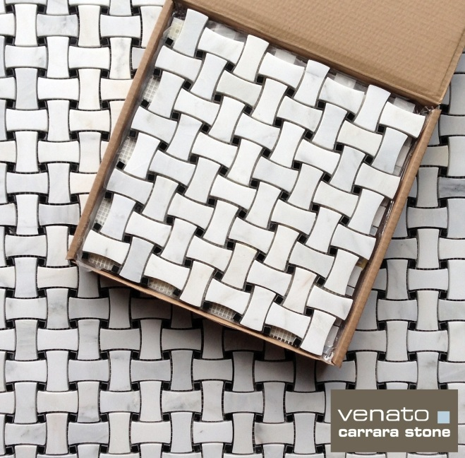 Carrara Dogbone Basketweave Mosaic