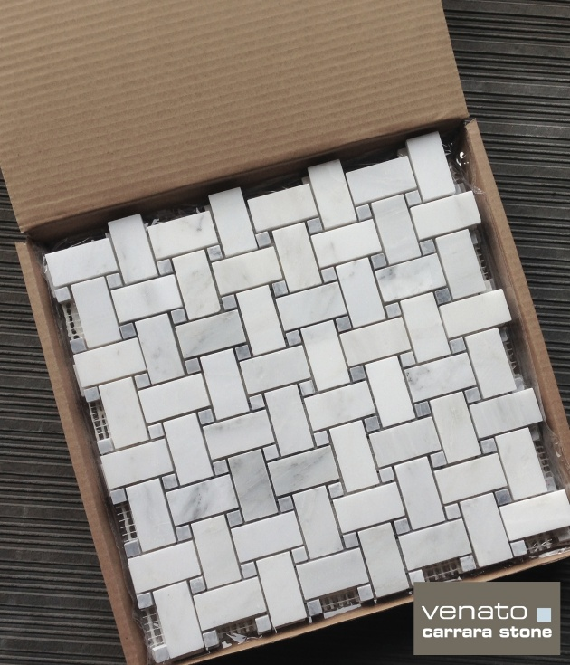 Carrara Venato Gray Dot Basketweave