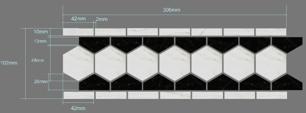 "Carrara Bianco 2"" Hexagon Specification"