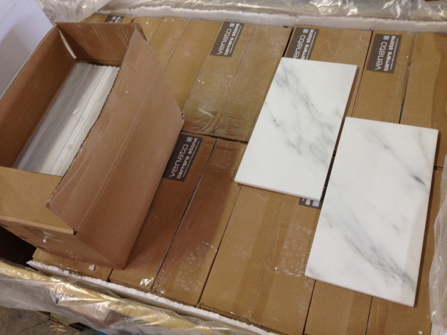 "Carrara Venato 6x12"" Honed Subway Tile"