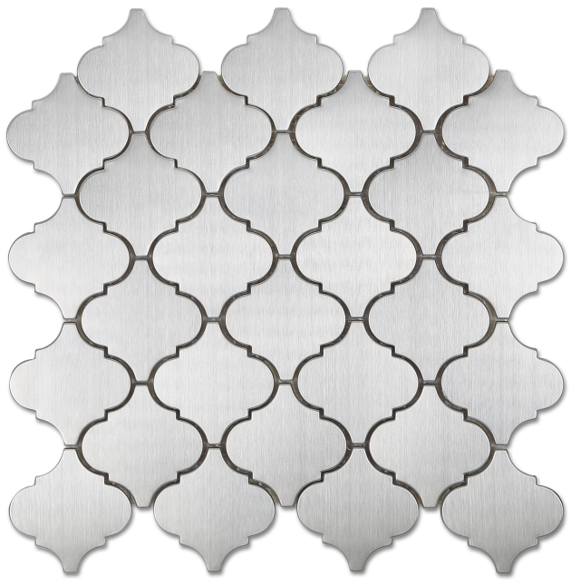 Arabesque Stainless Steel Metal Mosaic